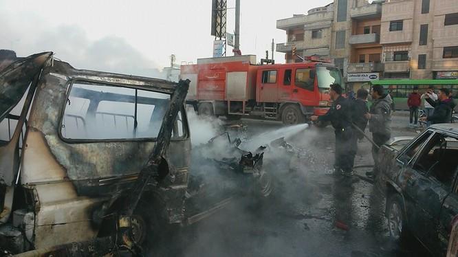 Cận cảnh một xe bom do lực lượng an ninh Syria bắt giữ