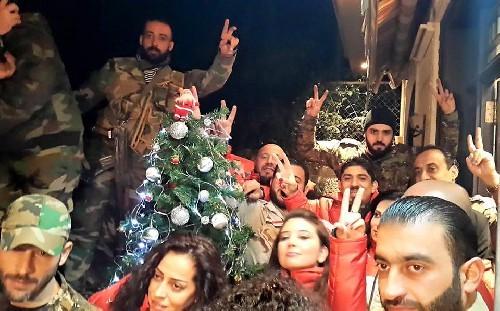 Đêm giáng sinh ở Syria, khu vực được giải phóng khỏi khủng bố.