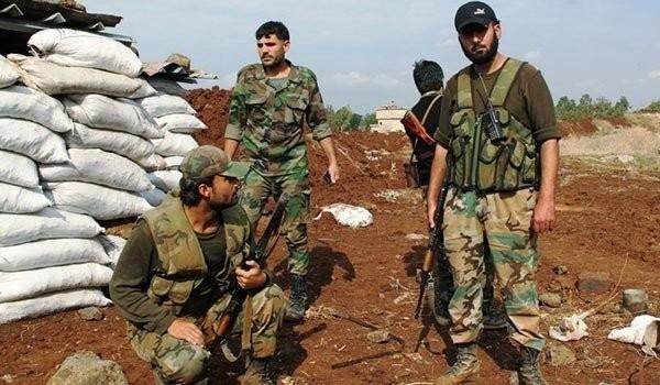 Các binh sĩ Syria sau trận chiến giành Sheikh Miskeen