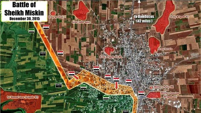 Quân đội Syria nỗ lực chiếm hoàn toàn thành phố Sheikh Miskeen