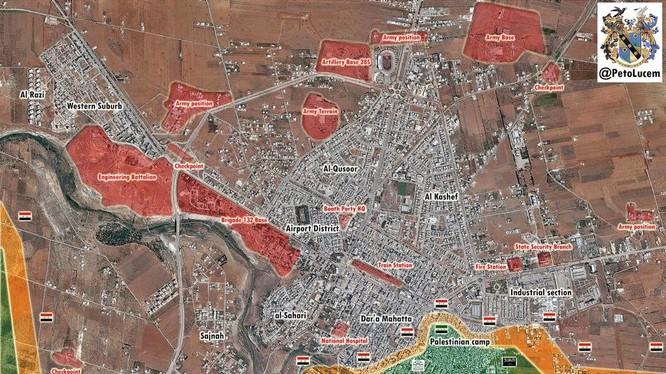 Quân đội Syria chỉ còn 200 m là đến cửa khẩu biên giới Jordan