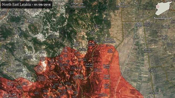 Giao tranh ác liệt tiếp tục tại chiến trường Bắc Latakia