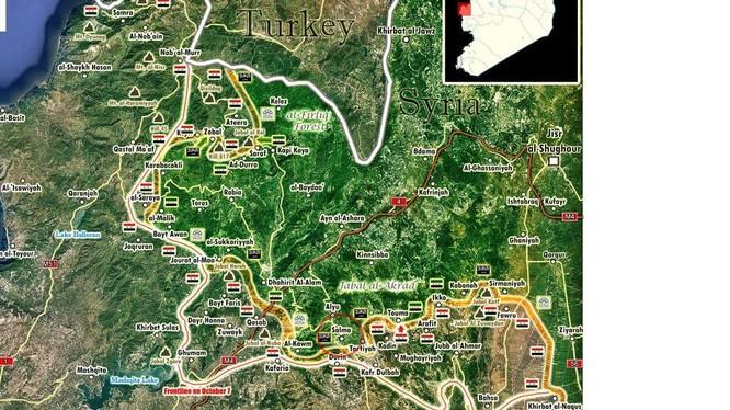 Quân đội Syria bao vây Salma từ 3 hướng, chuẩn bị tấn công