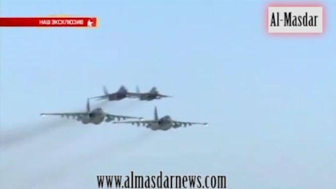Video: MiG 29 Syria yểm trợ đường không cho Su-25 Nga không kích