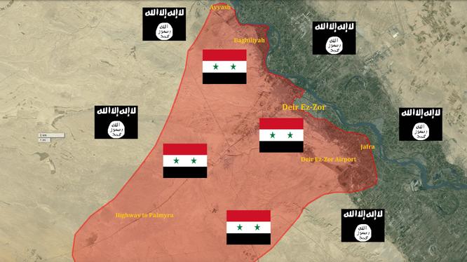 Quân đội Syria chiếm lại được làng Baghiliyah gần thành phố Deir ezZor