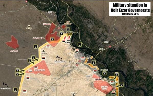 Quân đội Syria diệt 20 tay súng IS ở ngoại vi sân bay Deir Ez-Zor