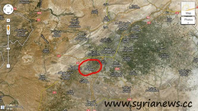 Quân đội Syria vây lấn thành phố Darayya ngoại vi Damascus