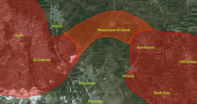 Quân đội Syria đập tan vòng vây hai thị trấn Nubl và al-Zahraa ở Bắc Aleppo