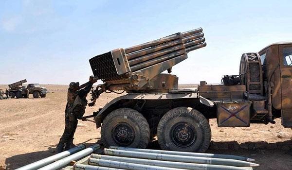 Pháo phản lực Grad của quân đội Syria ở tỉnh Daraa