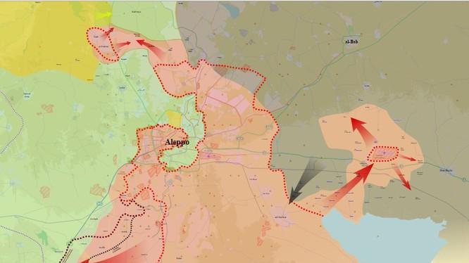 Tổng quan chiến trường Aleppo đến ngày 05.02.2016