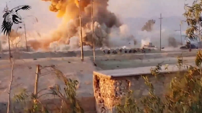 Video: Lực lượng vũ trang ở Syria tiêu diệt xe bom cảm tử của IS