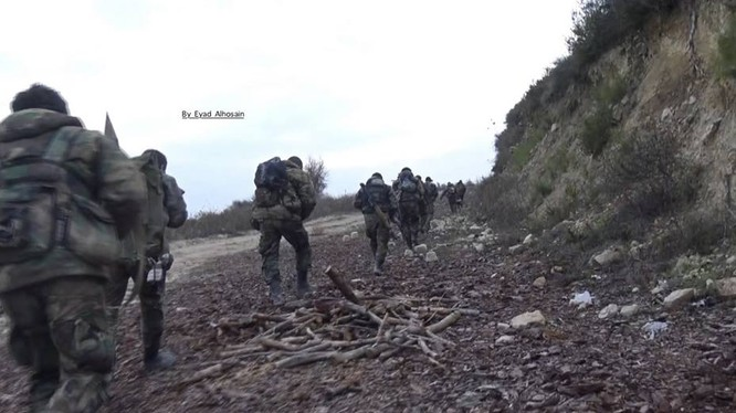 Lữ đoàn 103 mở hai hướng tấn công vào thị trấn Kinsibba, Latakia