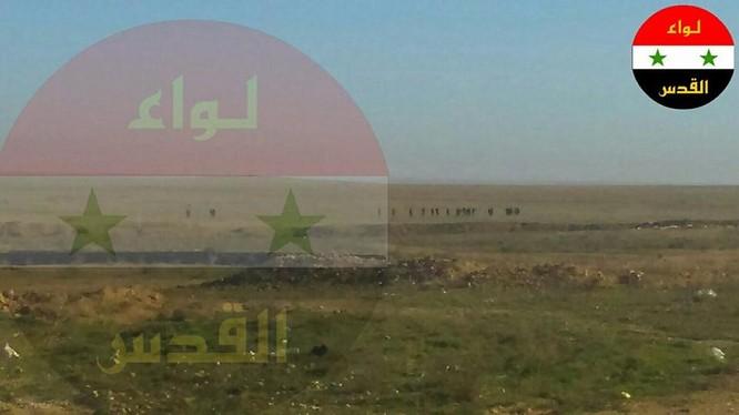 Cờ biểu tượng của lực lượng Paletstine Liwaa Al-Quds