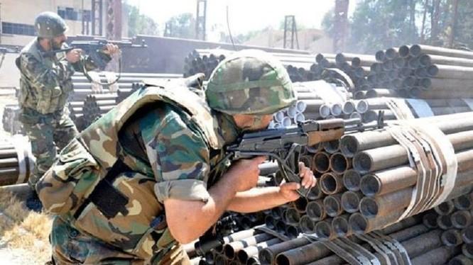 Quân đội Syria truy quét tiến công khủng bố ở sân bay Marj Al-Sultan, Damascus