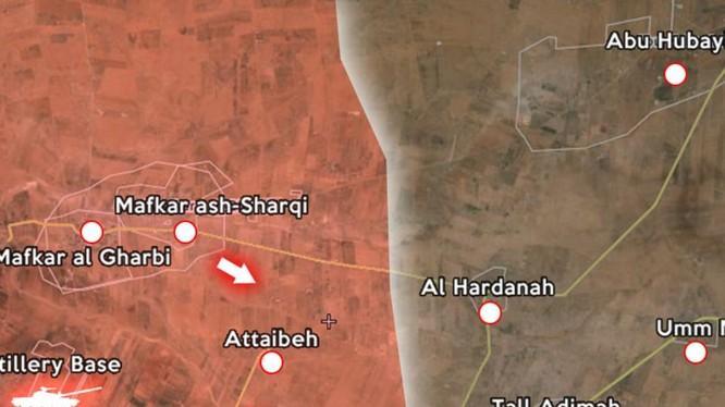 Quân đội Syria bẻ gãy cuộc tấn công, phá hủy 2 xe tăng IS tại làng Attaineth