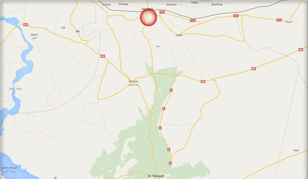 Thị trấn Tal Abyad thuộc tỉnh Raqqa, Syria