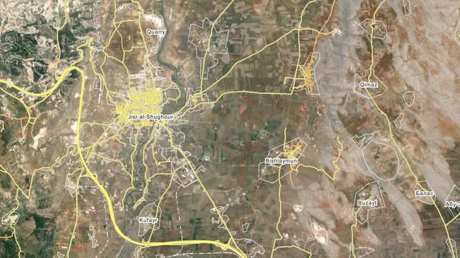 Lữ đoàn biệt kích 103 chỉ cách thành phố Jisr Al-Shughour, tỉnh Idlib 15 km