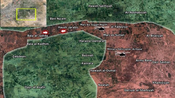 Quân đội Syria triển khai thế bao vây bóp nghẹt Đông Ghouta