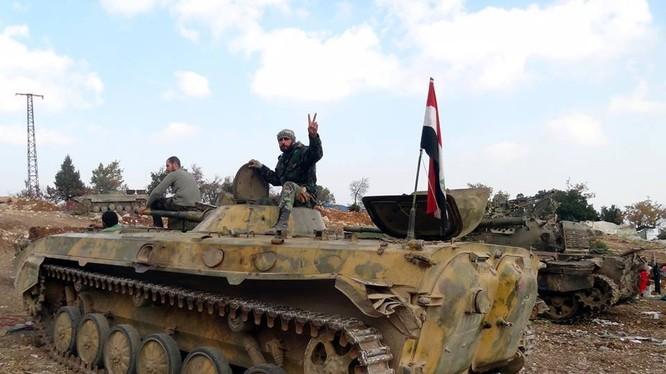 Quân đội Syria truy quét IS trên quốc lộ Sheikh Hilal-Salamiyah