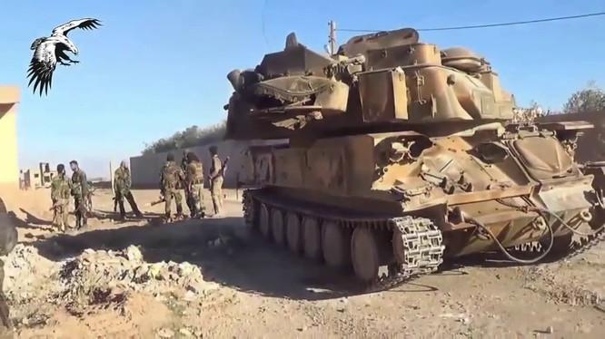 Lữ đoàn pháo binh 137 bao vây IS tại mỏ dầu Thayyem, Deir Ezzor
