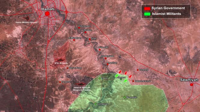 Quân đội Syria phản kích trên vùng nông thôn tỉnh Hama