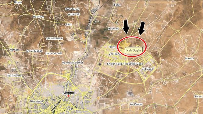Bản đồ chiến sự miền Bắc Aleppo