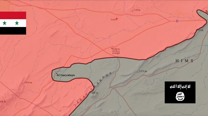 Quân đội Syria bao vây thành phố Qaraytayn, tiếp tục tấn công Palmyra