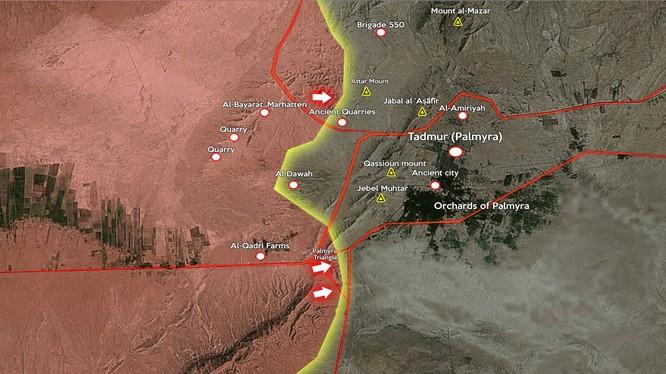 Quân đội Syria giành thêm nhiều điểm chốt ngoại vị Palmyra