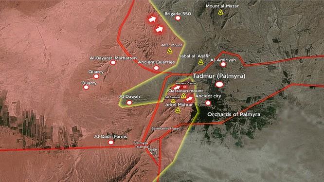 Lực lượng vũ trang Syria tiến gần đến mục tiêu giải phóng Palmyra