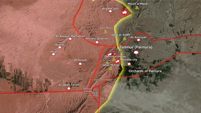Quân đội Syria tiếp tục vây lấn tiến công vào nội thị Palmyra