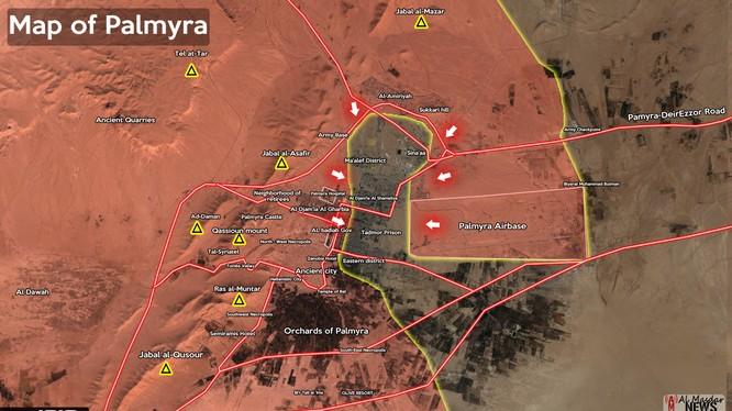 Quân đội Syria tấn công sân bay Palmyra, IS bắt đầu tháo lui