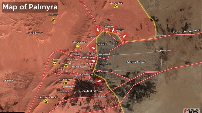 Lực lượng Tigers giành được cao điểm khống chế Palmyra
