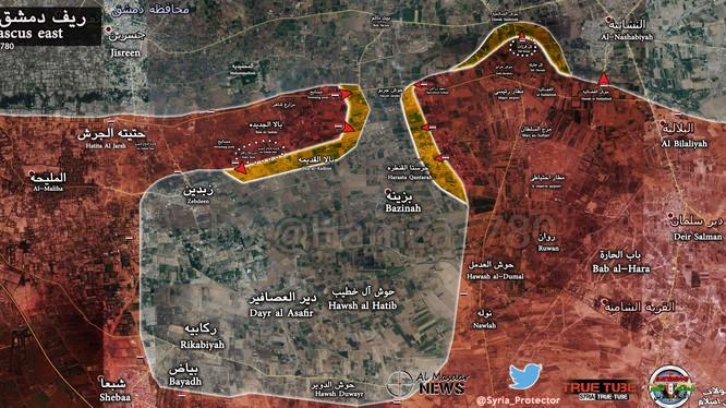 Quân đội Syria giải phóng căn cứ phòng không ở Đông Ghouta