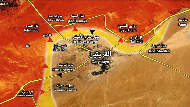 Quân đội Syria đột phá tuyến phòng thủ vành đai Quraytayn