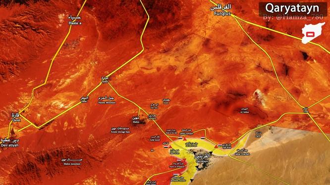 Quân đội Syria tăng cường binh lực ở Qaryatayn