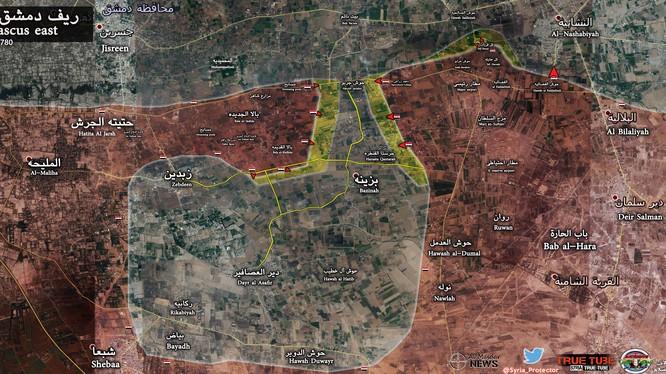 Lực lượng Vệ binh Cộng hòa và Hezbollah giải phóng làng Bala Al-Kadhim Đông Ghouta