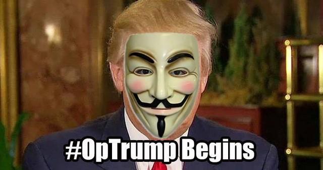 Chiến dịch chiến tranh tổng lực với Donald Trump của Anonymous chính thức trở thành thảm họa