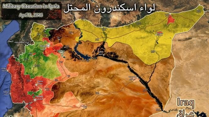 Tình hình chiến sự Syria tình đến ngày 03.04.2016