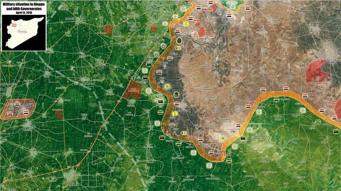Bản đồ chiến sự Syria tỉnh Aleppo và Idlib