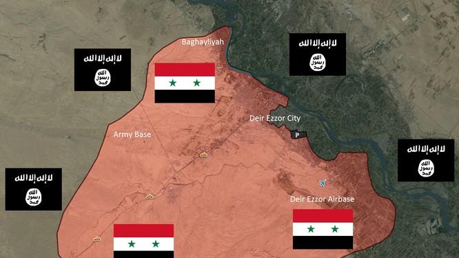 IS dồn quân đánh chiếm quận al-Sina'ah ở Deir Ezzor