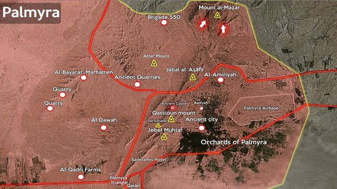 Quân đội Syria đánh chiếm ngọn núi chiến lược gần Palmyra