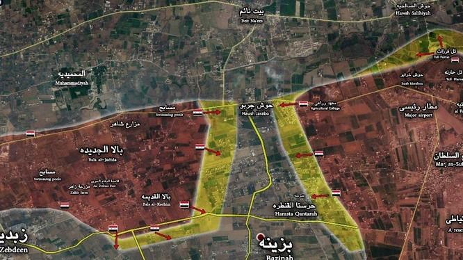 Lữ đoàn 102 Vệ binh Cộng hòa khép vòng vây ở Đông Ghouta