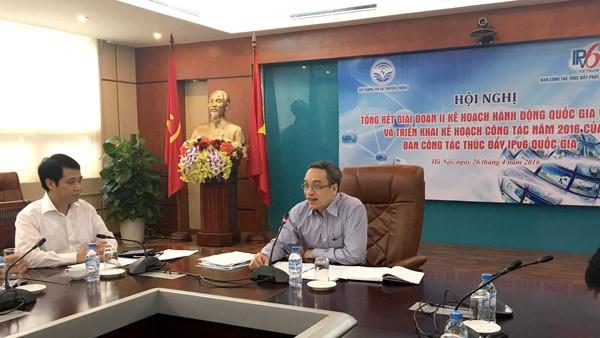 Thứ trưởng Bộ TT&TT Phan Tâm phát biểu chỉ đạo tại Hội nghị Tổng kết giai đoạn 2 Kế hoạch Hành động Quốc gia về IPv6.