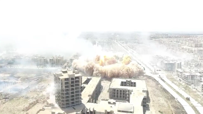 Video: Kinh hoàng vụ nổ hủy diệt của Al Nusra phá hủy thành phố Aleppo