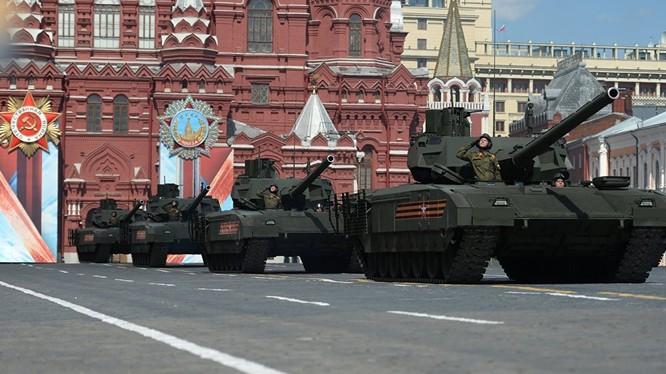 Phần diễu binh của đội hình xe tăng Armata