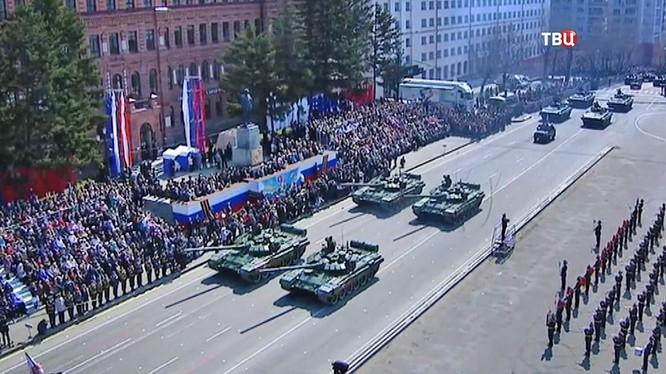 Diễu binh của quân đội Nga trên vùng Viễn Đông