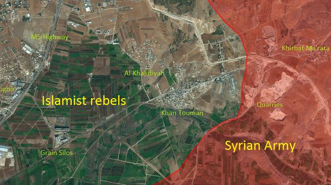 Quân đội Syria buộc phải giải phóng Khan Touman