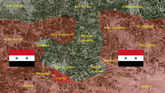 Quân đội Syria giải phóng khu trang trại Rikabiyah