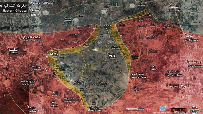 Quân đội Syria tấn công thị trấn Zabdeen và Deir al-Asafir
