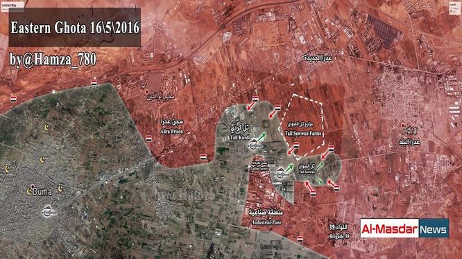 Quân đội Syria tái tấn công vào khu trang trại Tall Sawwan